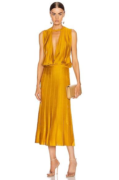 Sleeveless Midi Length Knit Dress