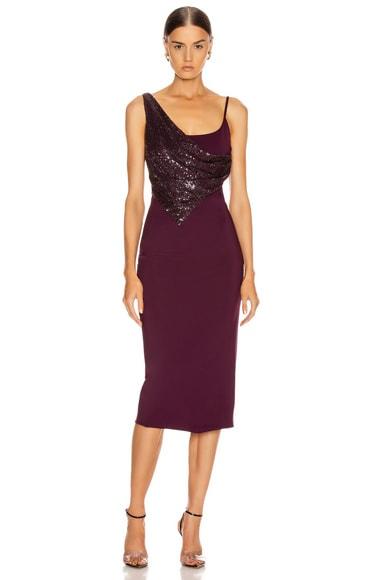Diamond Embellished Pencil Dress