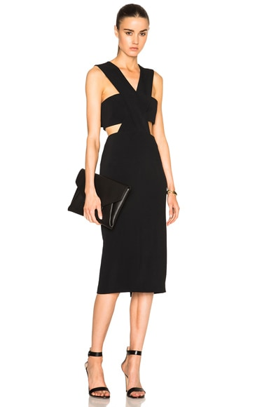 Stretch Cady Cut Out Dress