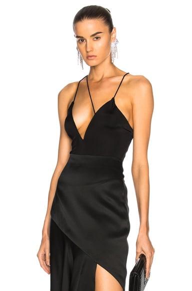 Strap Detail Deep V Bodysuit