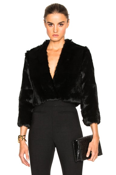 Solid Rabbit Fur Jacket