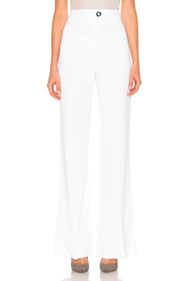 High Waisted Stretch Viscose Pant