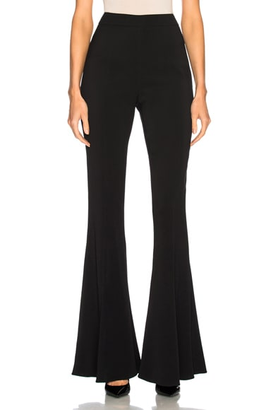 Exaggerated Flare Leg High Waisted Pant