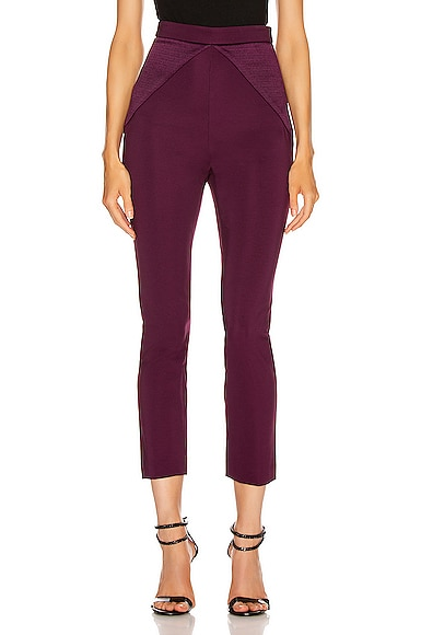 High Waisted Fitted Cropped Pant
