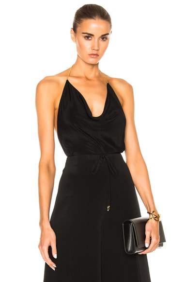 Cowl Halter with Gold Chain Strap