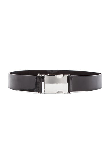 Patent Leather Buckle Belt