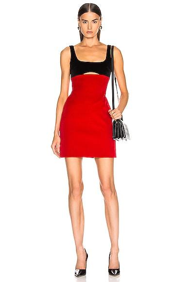Contrast Cutout Mini Dress