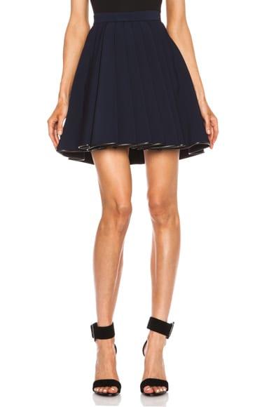 Ruffled Jersey Acetate Skirt