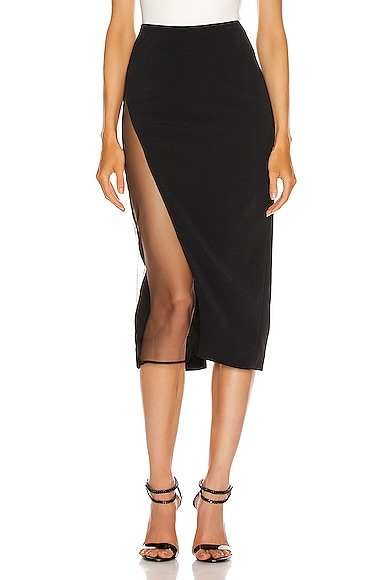 Asymmetrical Pencil Skirt