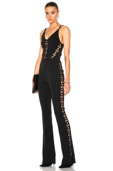 Chain Lace Inserts Jumpsuit