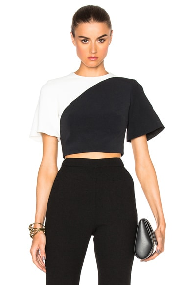 Contrast Crop Top