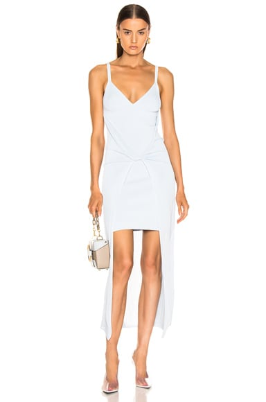 Sheer Solid Twist Dress