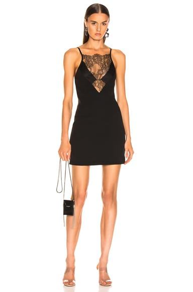 Stencil Lace Mini Dress