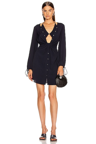 Twist Placket Tunic Dress
