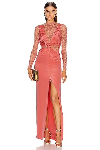 Marrow Lace Silk Knot Gown