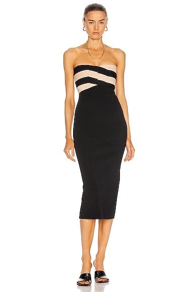 Dion Lee Knits INTERLOCK BUSTIER DRESS
