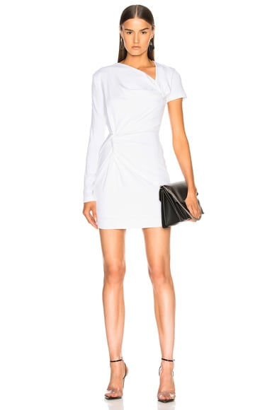 Double Twist Asymmetric Mini Dress