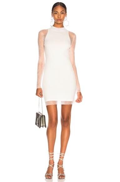 Sheer Knit Mini Dress