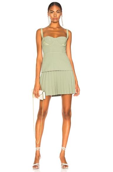 Buster Pleated Mini Dress