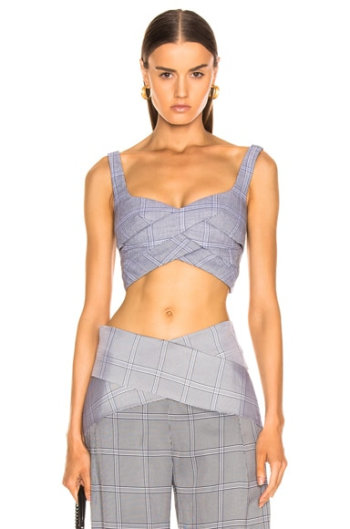Double Faced Check Bustier