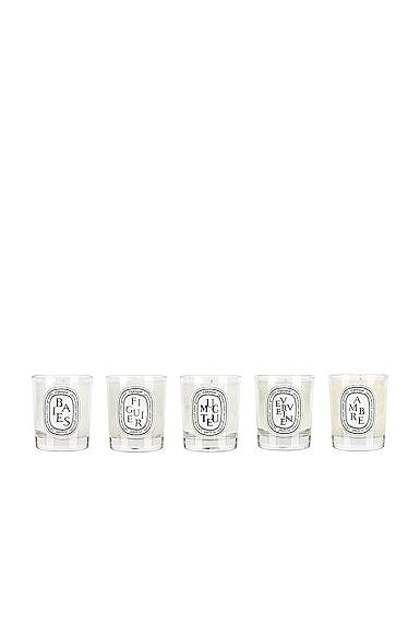 Set of 5 Mini Candle Set