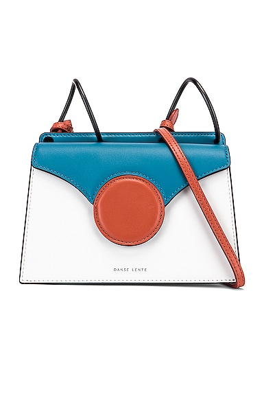 Danse Lente DANSE LENTE MINI PHOEBE BAG IN BLUE,WHITE