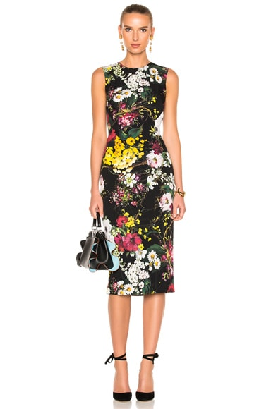 Floral Sleeveless Midi Dress