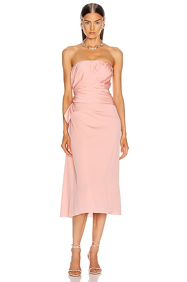 Strapless Midi Dress