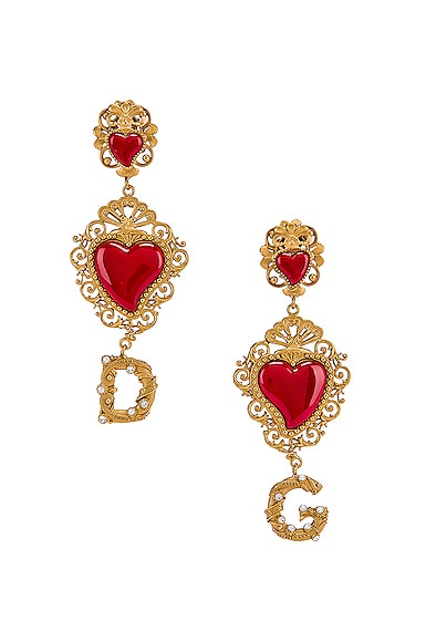 Double Hearts Logo Earrings