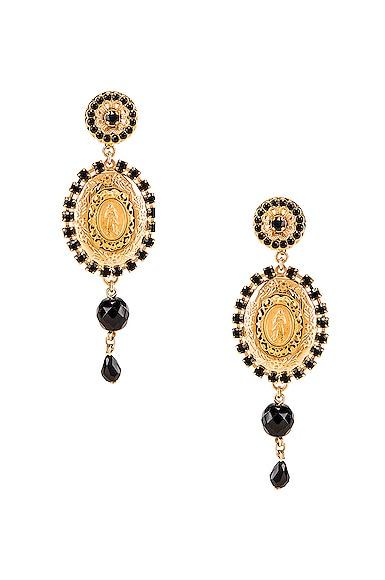 Medallion Drop Earrings