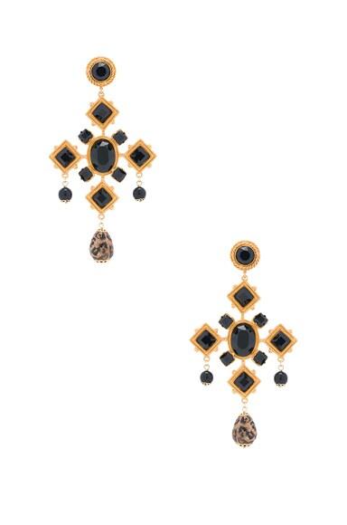 Black Cross Earring