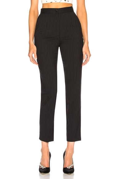 Pinstripe Stretch Wool Trousers