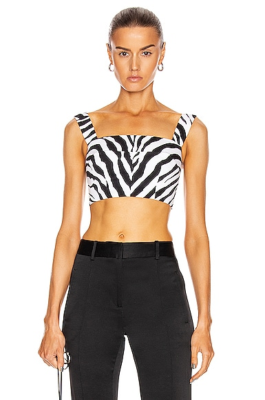 Square Neck Bustier Top
