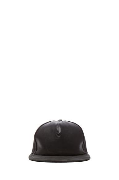 Leather Mix Baseball Cap