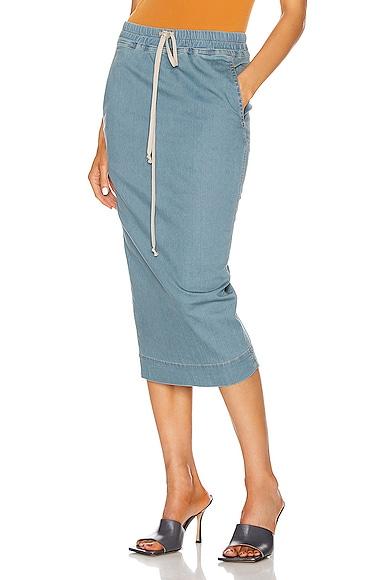 Soft Pillar Denim Skirt