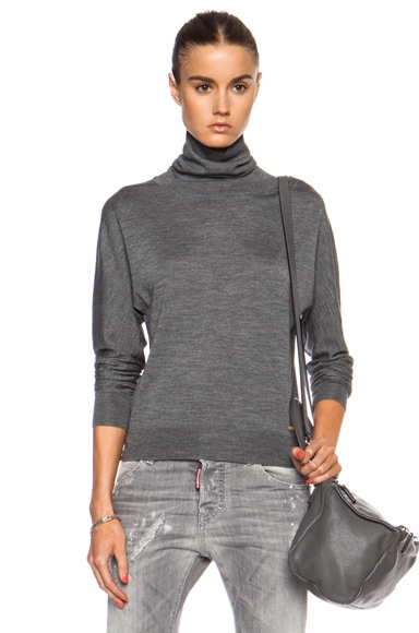 Turtleneck Wool-Blend Sweater