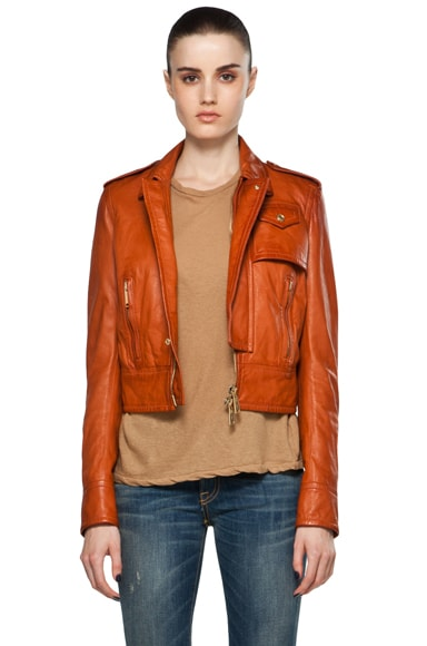Linda Leather Boxy Jacket