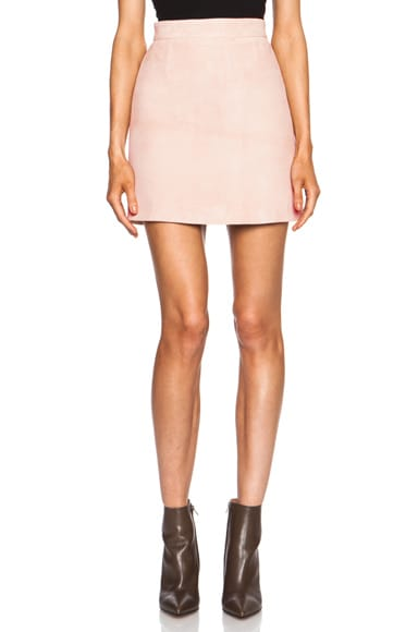 Olympia Suede Leather Skirt
