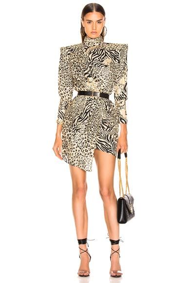 Gilded Leopard Print Dress