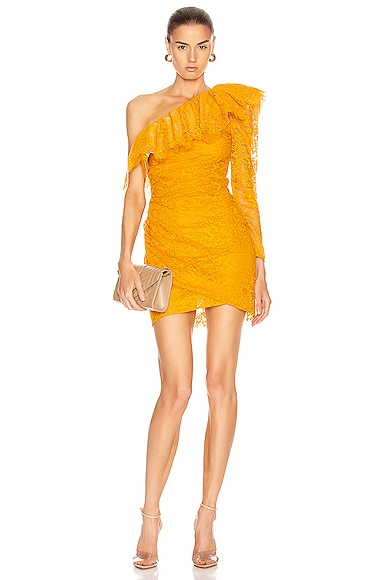 Lace One Shoulder Mini Dress