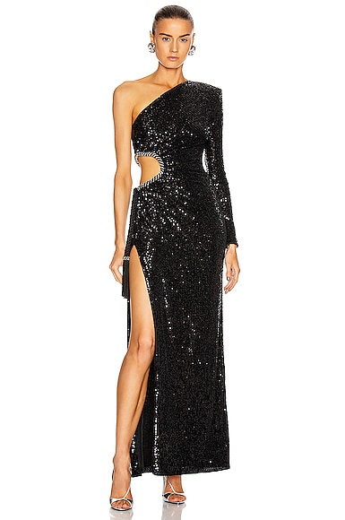 Sequin Cutout Gown