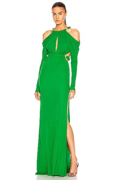 Cutout Long Sleeve Dress