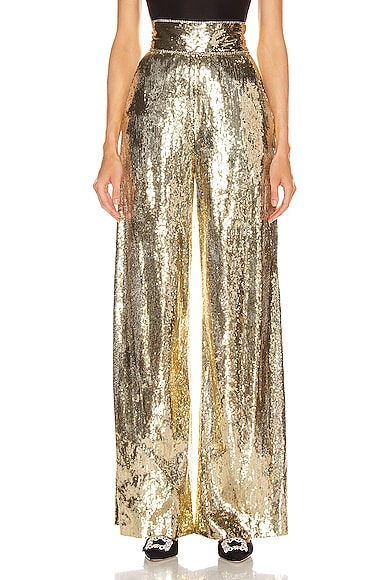 Sequin Wide Leg Pant