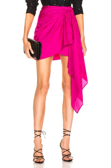 Drape Mini Skirt