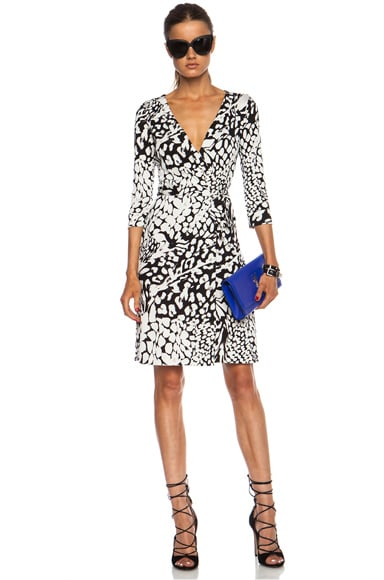 Diane von furstenberg new julian two silk dress in feather for Julian alexander wedding dresses