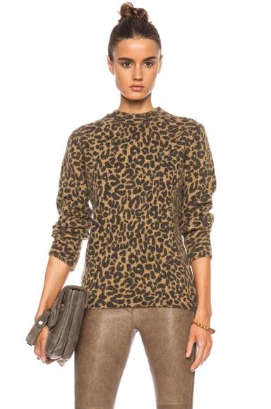 Leopard Print Alpaca-Blend Sweater