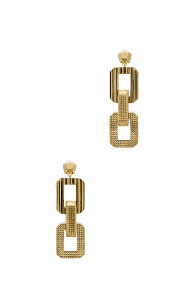 Medium Supra Link Drop Brass Earring