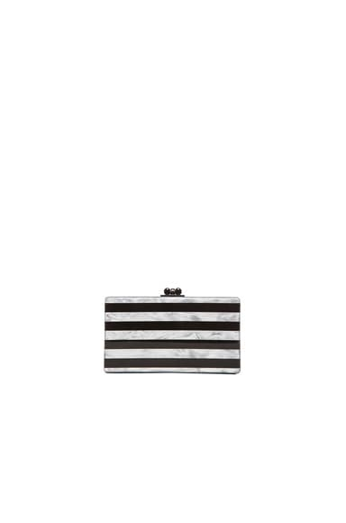 Jean Striped Clutch
