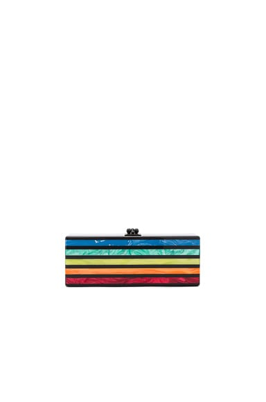 Flavia Striped Clutch