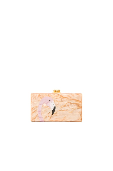 Jean Flamingo Clutch